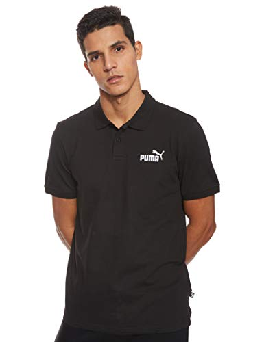 PUMA Herren Essential Pique Polo_851759 Poloshirt, Schwarz (Cotton Black/01), M