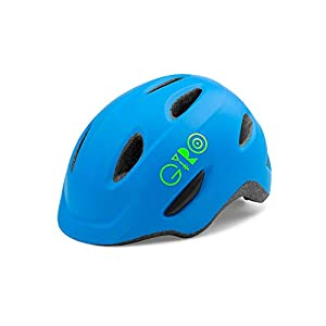 Childrens Cycling Helmet Giro Kids' Scamp Cycling Helmet, Matt Blue/Lime, Small (49-53 cm)