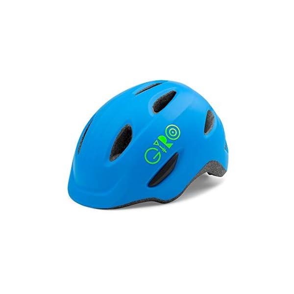 Childrens Cycling Helmet Giro Kids' Scamp Cycling Helmet, Matt Blue/Lime, Small (49-53 cm)
