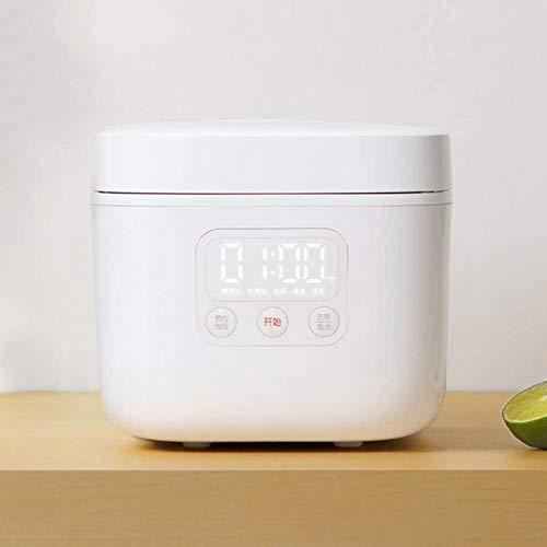 1.6L Intelligente elektrischer Reiskocher Mini Dampfgarer Joghurt-Maschine Kuchen-Hersteller für 1-4 Personen 24H Termin für den Hausgebrauch, Weiss