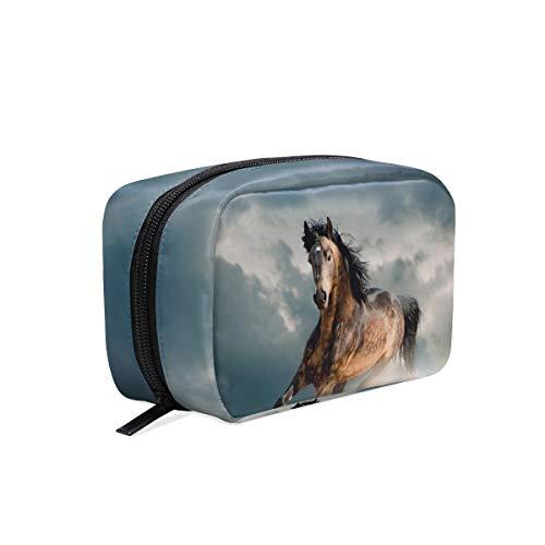 Cosmeticatas Animal Running Horse zand stof cosmeticatas Clutch
