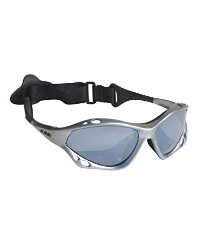 Jobe Gafas de Sol Deporte náutico Gafas Gafas de Sol para Kite Surf Vela Ballena Esquí acuático Skate Ciclismo - Silver polarizado, Medio