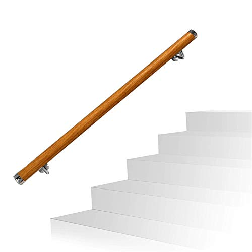 KUNYI Treppenhandlauf, Massivholz-Anti-Rutsch-Anti-Fallen Starke Tragfähigkeits Geeignet for Flur Loft Krankenhaus Mall (Size : 6ft)