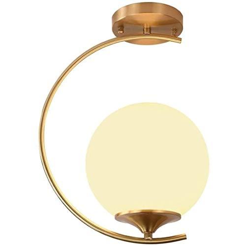 SQDDM Conception personnalité de cuivre post-moderne simple lampe de plafond, Chambre Salon Balcon Hôtel Villa Bel art Lampes d'éclairage