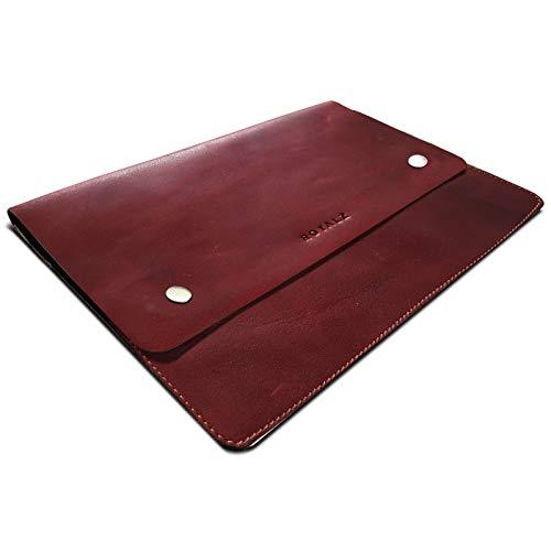 ROYALZ leren hoes voor Microsoft Surface go beschermhoes 10 inch (zonder toetsenbord) plat vintage look hoes voor transport ter bescherming, Lavara bruin.