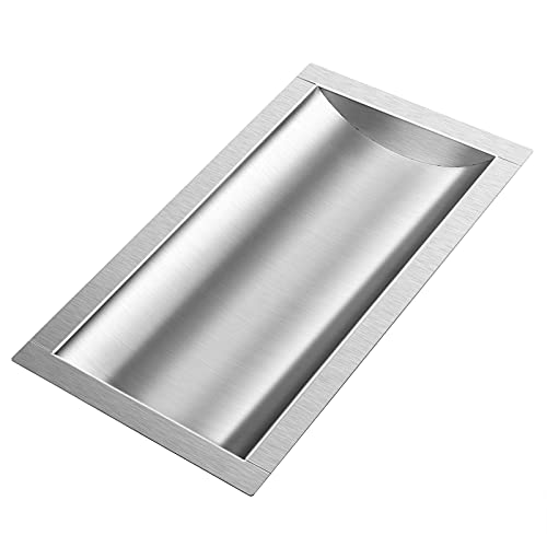 Marada 10L x 18W x2H Drop-in Deal Tray All Brushed 304 Stainless Steel Window Tray High Standard Flush Mount Cash Trays for Gas Stations, Banks, and Convenience Stores and Hospital