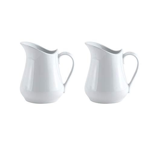 HIC Harold Import Co. Harold Import Co. Porcelain Creamer Pitcher, 4 Ounce, Set/2