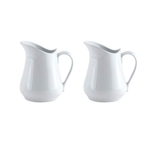 HIC Harold Import Co. Harold Import Co. Porcelain Creamer Pitcher, 4 Ounce, Set/2