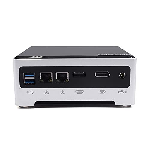 BASOARO Mini PC con Windows 10, computadora de Escritorio, Intel Core i7 7820HK/HQ, 32G DDR4 RAM 512G SSD, 2 Gigabit Ethernet, HDMI/DP, 6 USB3.0, BT, WiFi de Doble Banda