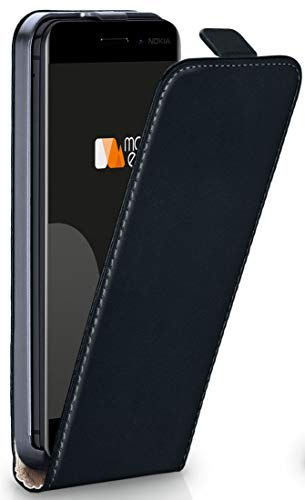 MoEx® Flipcase kompatibel mit Nokia 6.1 | Klapphülle Handytasche mit Rundum Schutz - Handy Hülle Klappbar Flip Case, Schwarz