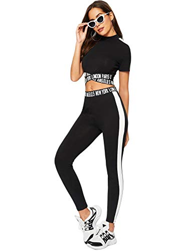 Seamless High Waist Leggings and Long Sleeve Crop Top Yoga Activewear Set OLCHEE Womens 2 Piece Tracksuit Workout Outfits