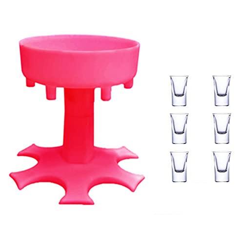 Dispensador de Copas de Vino,6 Dispensadores de Vasos de Chupito y Soporte Dispensador de Cócteles Dispensador de Barra Soporte Vasos Chupito para Bebidaspara Bebidas, Cócteles, Cervezas.