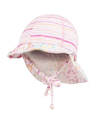 maximo maximo Baby-Mädchen Schildmütze Mütze, Mehrfarbig (Kürbis-Pink-Streifen 29), 47