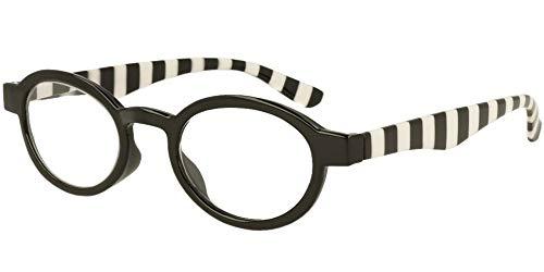 LINDAUER Klassische Lesebrille +2,5 schwarz Fertigbrille SIE & IHN Flexbügel