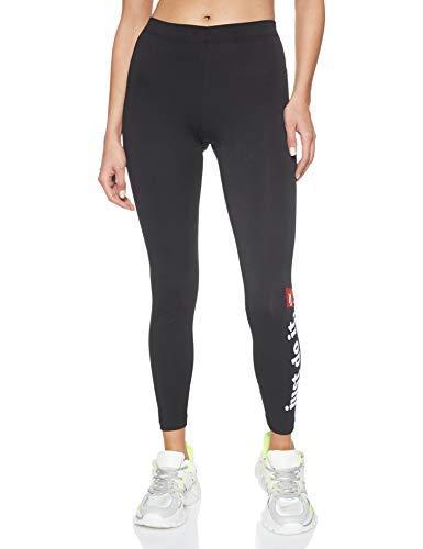 NIKE Pantalones Deportivos para Mujer W NSW Lggng Club, Mujer, Pantalones Deportivos, CJ1994, Blanco/Negro, Extra-Small