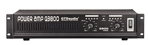 GTD Audio 2 Channel 3800 Watts 2U Stereo Professional Power Amplifier AMP Q3800
