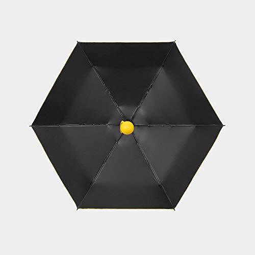 xmwm Sombrilla para mujer, parasol UV, protector solar doble, ultra compacto, portátil, plegable, para cinco niñas, B, radio 48-53 cm