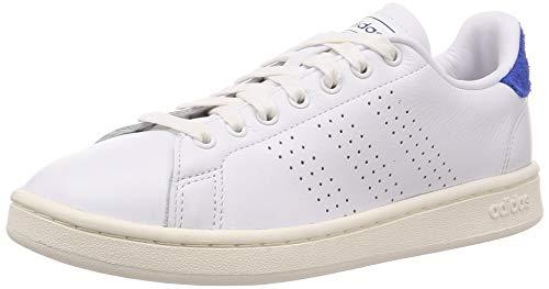 adidas Advantage, Zapatillas de Tenis Hombre, FTWR White FTWR White Team Royal Blue, 43 1/3 EU