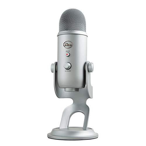 Blue Microphones Yeti - Micrófono para ordenador (USB, 16-bit, 48 KHz, 16 ohms, 20 Hz - 20 kHz), Gris Espacial