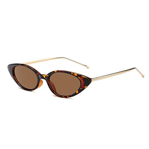 Inlefen Retro Slim Vintage Oval Cat Eye gafas de sol pequeñas estilo Mod para las mujeres