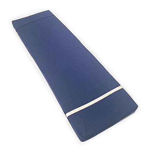Tesosy Cojín Tumbona Liso Azul Oscuro 180 x 55 x 8 cm, Colchoneta para Tumbona, Colchón Tumbona Acolchada, Cojín para Tumbonas de Exterior para Jardin y Playa