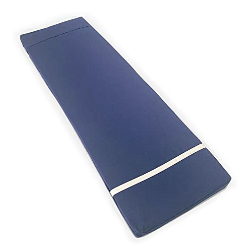 Tesosy Cojín Tumbona Liso Azul Oscuro 180 x 55 x 8 cm, Colchoneta para Tumbona,...