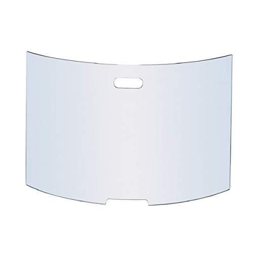 MS Beschläge Griglia di protezione dalle scintille in vetro temperato di sicurezza, design elegante, 76 x 50 cm, parascintille per camino, protezione da camino, vetro trasparente