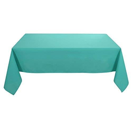 Deconovo Tischdecke Wasserabweisend Tischwäsche Lotuseffekt Tischtuch 130x130 cm Trükis