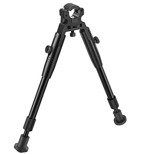 EZshoot 8-10 Inches Clamp-on Bipod Double Pads Barrel Mount Bipod