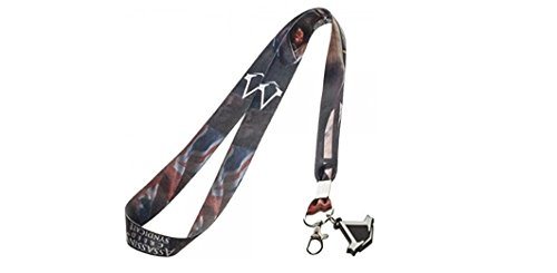 Assassins Creed Logo Lanyard keychain Holder with Charm and ID Badge Holder