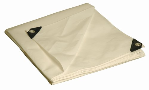 12x20 Multi-Purpose White Heavy Duty DRY TOP Poly Tarp (12'x20')