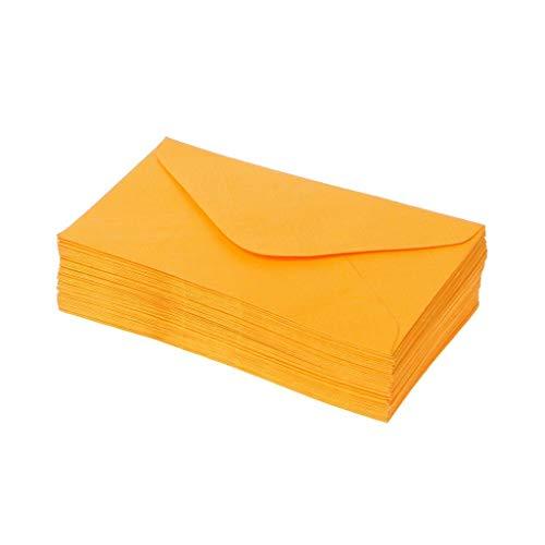 50 Stück Helle Misch Farbige Umschläge Mini Papierumschläge Wedding Party-Einladung Karten Geschenk (Color : Yellow)