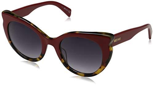 Just Cavalli JC786S 68B 53 Gafas de sol, Rojo (Rosso/Altro/Fumo Grad), Mujer