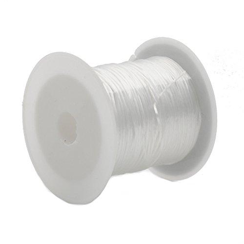 Cuerda elástica colorida de 0,6 mm en rollo de 10 m, para bricolaje, hacer joyas, pulseras de abalorios