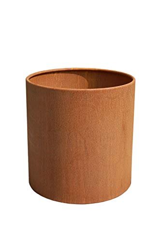 Vivanno Pflanzkübel Blumenkübel Kübel aus Cortenstahl Metall New Rondo, Rostbraun (40x40 cm)