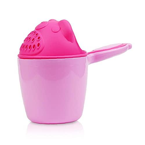 MaylFre Los niños de Dibujos Animados baño Enjuagadora Multi-Uso del Agua Espesada Cucharada cucharón de rociadores de Ducha champú Cucharadas de baño Juguetes para bebé Rosado pequeño