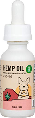 Healthy Spot / Mind Body Bowl - 250mg Hemp and MCT Oil for Dogs - All Natural and Organic.