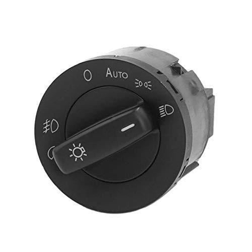 ZHANGJINYAN Ajuste para la luz Delantera de la lámpara de Niebla Fit para Golf 5 6 más Jetta Tiguan Caddy Passat B6 CC Touran Sharan 1K0941431A (Color : Black)