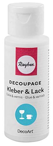 Rayher 38928000 Decoupage Kleber&Lack für Glas, spülmaschinenfest, Fla