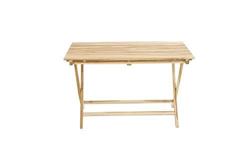 Ploß Ploß Outdoor furniture Milford Klapptisch, Eco Teak Natur, 120 x 70 x 75 cm