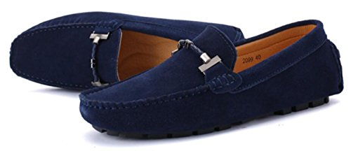 Go Tour New Mens Casual Loafers Moccasins Slip On Driving Shoes Blue 12/48
