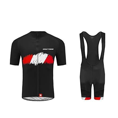 UGLYFROG Bikewear Ciclismo Hombre Bicycle Maillots +Pantalones Cortos Set Manga Corta Verano Transpirable Secado Rápido Cycling Clothes