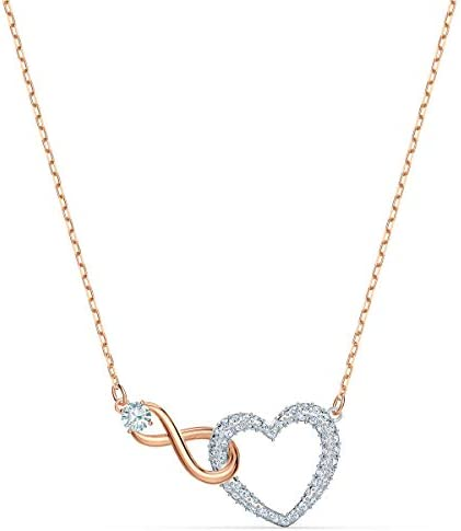 SWAROVSKI Women s Infinity Heart Mixed Metal Finish Necklace White Crystal product image