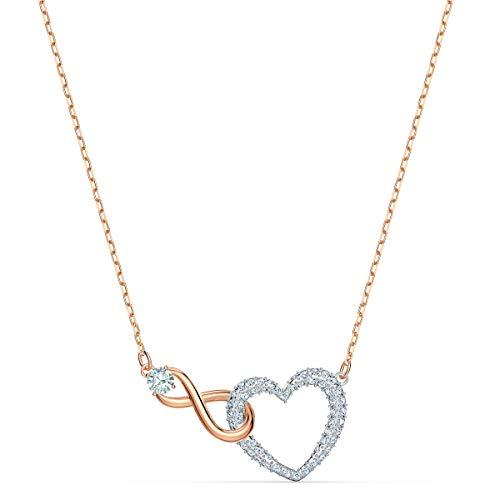 Swarovski Collier Swarovski Infinity Heart, Blanc, Finition Mix de Métal