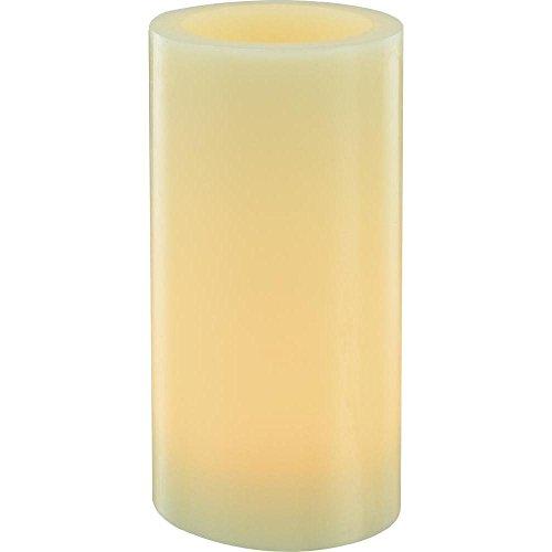 LED Vela de cera 15cm, Amber 1Amber marfil (Ø x H) 75mm x 150mm