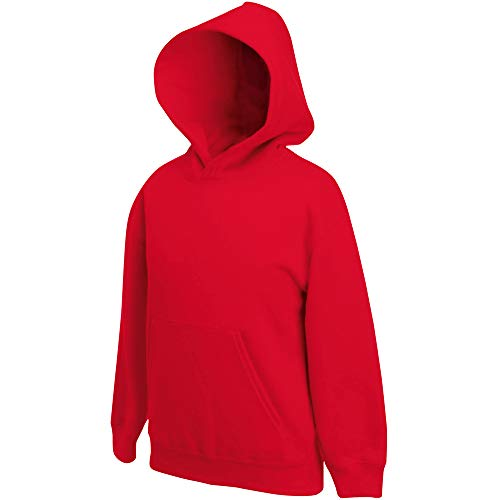 Fruit of the Loom Fruit of the Loom Kids' Hooded Sweat, Red, 128