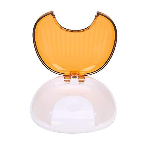 SHYEKYO Recipiente De Retención De Ortodoncia, Estuche De Retención De Ortodoncia De Gran Capacidad Impermeable para Mantener Su Protector Bucal(Naranja sobre Blanco)