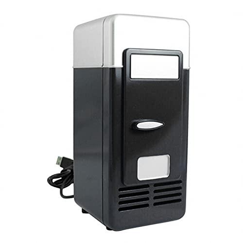 BIANGEY Mini Nevera De USB, Nevera Portátil, Refrigerador De Automóviles, para El Hogar De La Habitación del Dormitorio para El Hogar,Negro