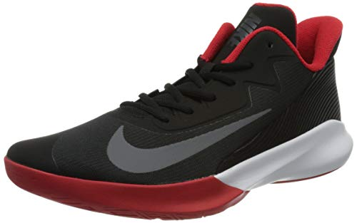 Nike Precision 4, Scarpe da Basket Uomo, Black/Dark Grey-University Red-White, 42.5 EU
