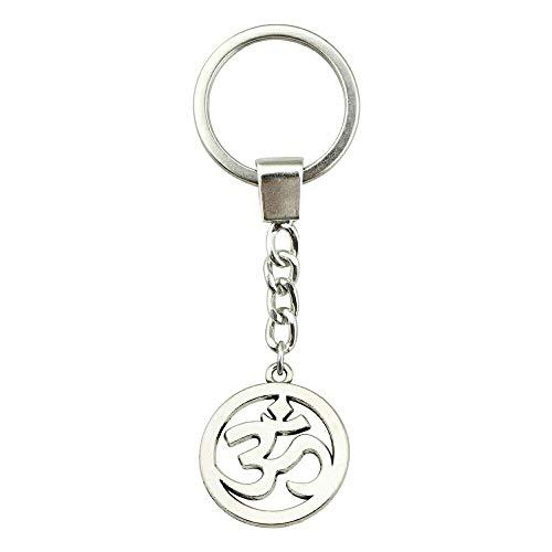 Schlüsselring 25mm Om Sign 2 Farben Antik Bronze Antik Silber Farbe Männer Schmuck Auto Schlüsselanhänger Ringhalter Souvenir Geschenk